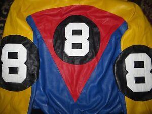 Original Michael Hoban HOBO North Beach Eightball Lambskin Leather Jacket Medium
