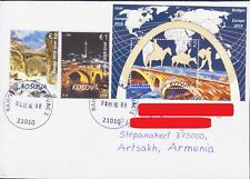 KOSOVO EUROPA CEPT 2018 BRIDGE COVER TO ARTSAKH KARABAKH ARMENIA R18132
