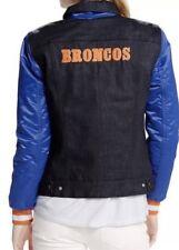 Denver Broncos Levis Trucker blue denim Jean Jacket Women Medium NFL 212300002