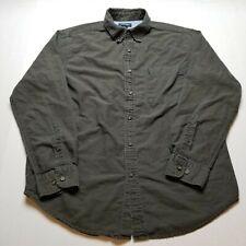 Cherokee Dress Shirt Mens M Dark Gray Long Sleeve Button Front Q76