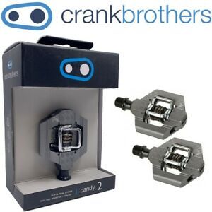 Crank Brothers Candy 2 Clipless Bike Pedals & Cleats Bros Choose Color