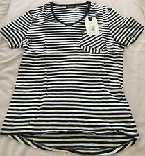 DENHAM Jean Makers Barnum Navy & white stripe T-SHIRT Size M