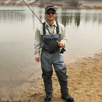 Breathable Chest Waders Fishing Waders with Stocking Foot Boots