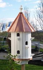 10-Hole Bird House with High Copper Roof Amish-made