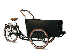 Bakfiets Troy bambini transportrad carichi BICICLETTA 7 G Shimano Catene circuito BLACK