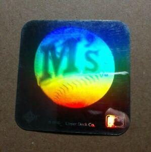 Vintage 1990 Upper Deck Seattle Mariners Square Hologram Holographic Sticker