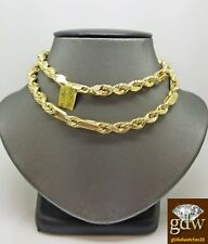 Real 10k Yellow Gold Milano Chain for Men, 26 Inches Long 7mm, Palm, Franco, New