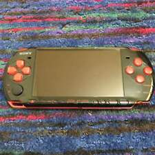 Original Sony PSP 3000 Red Black Limited Console Battery Japan Used F/S