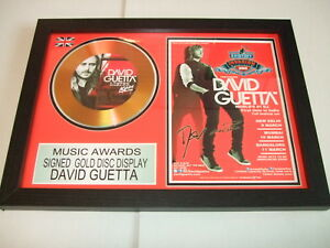 david  guetta    SIGNED  GOLD CD  DISC  15