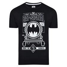 MENS BATMAN T SHIRT SLIM FIT BLACK EX STORE BAT-SIGNAL OFFICIAL DC COMICS NEW