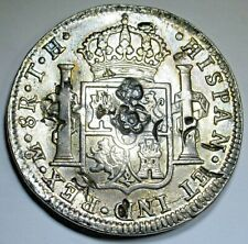 1807 Chopmarks Spanish Silver 8 Reales Eight Real Countermark Counterstamp Coin
