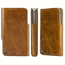 SWITCHEASY Duo Leather Sleeve Case/Pouch for Apple iPhone 4/4S, Tan/Brown Colour
