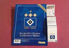 Panini Nur der HSV Hamburg 125 Jahre alle 240 Sticker komplett Album 2. Auflage