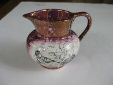 Vintage Gray's Pottery Smoking Shellfish in a Cage Tormenting Luster Jug Creamer