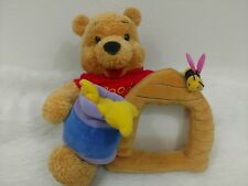 Winnie The Pooh 10 inch plush bee hive picture frame Disney Store Collectible