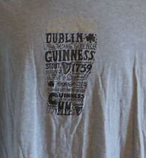 Guiness Beer Dublin Stout Jersey Style Tshirt Large Brewery
