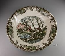 """JOHNSON BROTHERS the FRIENDLY VILLAGE COUPE SOUP BOWLS  7 1/2""""- made England"""