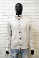 Cardigan Uomo Ellesse Taglia L Pullover Maglione Sweater Felpa Lana Bianco Man