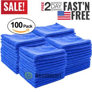 Lot Microfiber Cleaning Cloth Towel Rag Car Polishing No Scratch Auto Detailing
