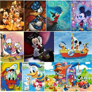 5D Full Drill Diamond Painting Embroidery Cross Craft Art Mickey Cartoon Decor