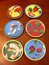 THE MONKEY AND THE PIPER by LIZ ROSS SET OF 6 DIFFERENT SNACK TIDBIT DISHES NIP