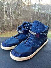 ADIDAS MENS HIGH TOPS Blue Purple Vintage ATHLETIC BASKETBALL SHOES SIZE 9 ❤️