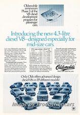 1979 Oldsmobile Diesel Delta 88 Original Advertisement Print Art Car Ad J687