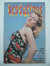 Magazine Sexy Sensations No No 49 - September 1952 - Editions Extensia