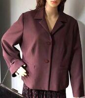Marks And Spencers Womens Tailored Jacket  Uk Size 18 Petite Burgundy BNWOT