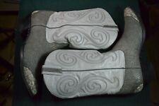 sz 11-1/2 D Mens Larry Mahan 8533 Elephant Texture w Snake cowboy boots EXC