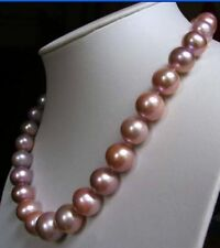 "18"" 10-11 MM AAA Akoya SOUTH SEA  PURPLE Pearl Necklace 14k Gold Clasp"