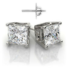 Earrings Set 2 00 Carat Princess Cut Diamond Gia Certified Platinum