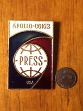 APOLLO -USSR PRESS PIN  USSR VERSION / STAINED GLASS EFFECT / APPEARANCE