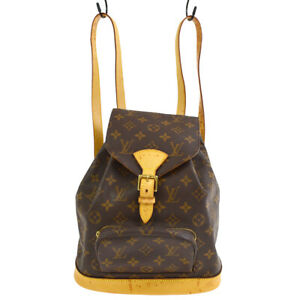 LOUIS VUITTON MONTSOURIS MM BACKPACK BAG PURSE MONOGRAM M51136 ggp 40480