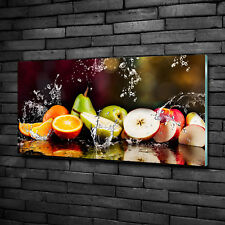 Glas-Bild Wandbilder Druck auf Glas 100x50 Deko Essen & Getränke Obst Wasser