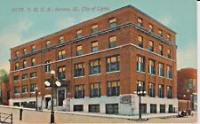 Early 1900's The Y.M.C.A., City of Lights in Aurora, IL Illinois PC