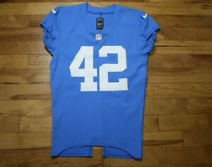 Detroit Lions Thanksgiving Day team issued jersey unused Nike size 42 skill