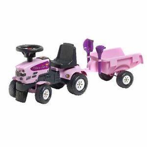 "Kiddy / Kindertraktor / Rutscher ""Princess"" pink mit Anhänger! Neu & Ovp !!"