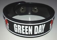 NEW GREEN DAY RUBBER BRACELET WRISTBAND UNISEX MEN WOMEN WHITE SOUVENIRS WB16