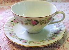 Vintage Tea Cup Set, Pink Roses, tea party, mismatched, tea cup & saucer