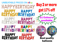 Happy Birthday Balloon Banner Balloons Party Self Inflating Bunting Letters CRS