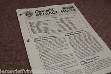 1967 Camaro Headlight Door Chevy Service News SS 350 GM schematic 396 rs