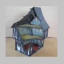 28MM Fantasy Tudor Style House Ruin Laser Cut 2mm MDF Kit