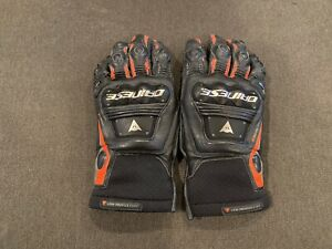 Dainese Steel Pro In Gloves - Size XL - Black/Flo Red - Used