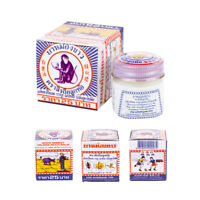 White Monkey Balm Little Pain Ache Relief Ointment Relax Thai Herbal Travel Size