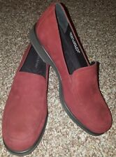 Rockport Womens Wine Koo Suede Leather Loafers Size 9.5M