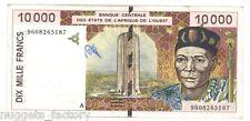 10000 Francs CFA Cote d Ivoire 1996  SUP + ( 715  )