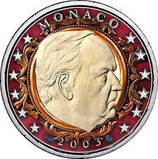 Monaco 2 Euro 2003 Fürst Rainier III Münze in Farbe