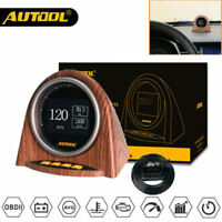 AUTOOL X70 Car OBD2 II Pressure Meter Speed Oil Water Temp Alarm Digital Gauge