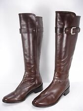 COLE HAAN INDRIA BROWN LEATHER SIDE ZIP KNEE HIGH RIDING BOOTS WOMEN'S 9 B